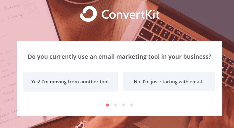 Convertkit Survey Screenshot